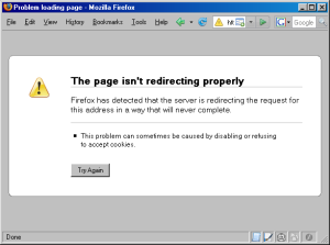 The page is not redirecting properly - MozillaZine Knowledge Base