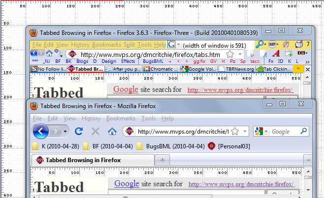 (picture of toolbars with scaling grid)
