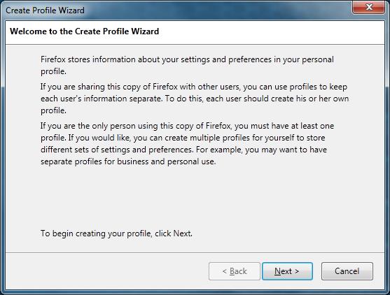 Creating a new Firefox profile on Windows - MozillaZine Knowledge Base